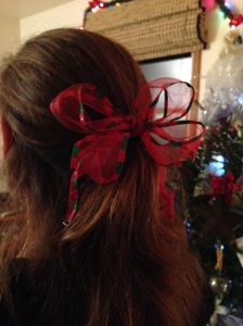 The BOW that made the the 3rd BOWnus day of RED! It was also repurposed from a gift that my friend gave me.